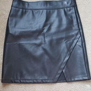 Loft-faux leather skirt